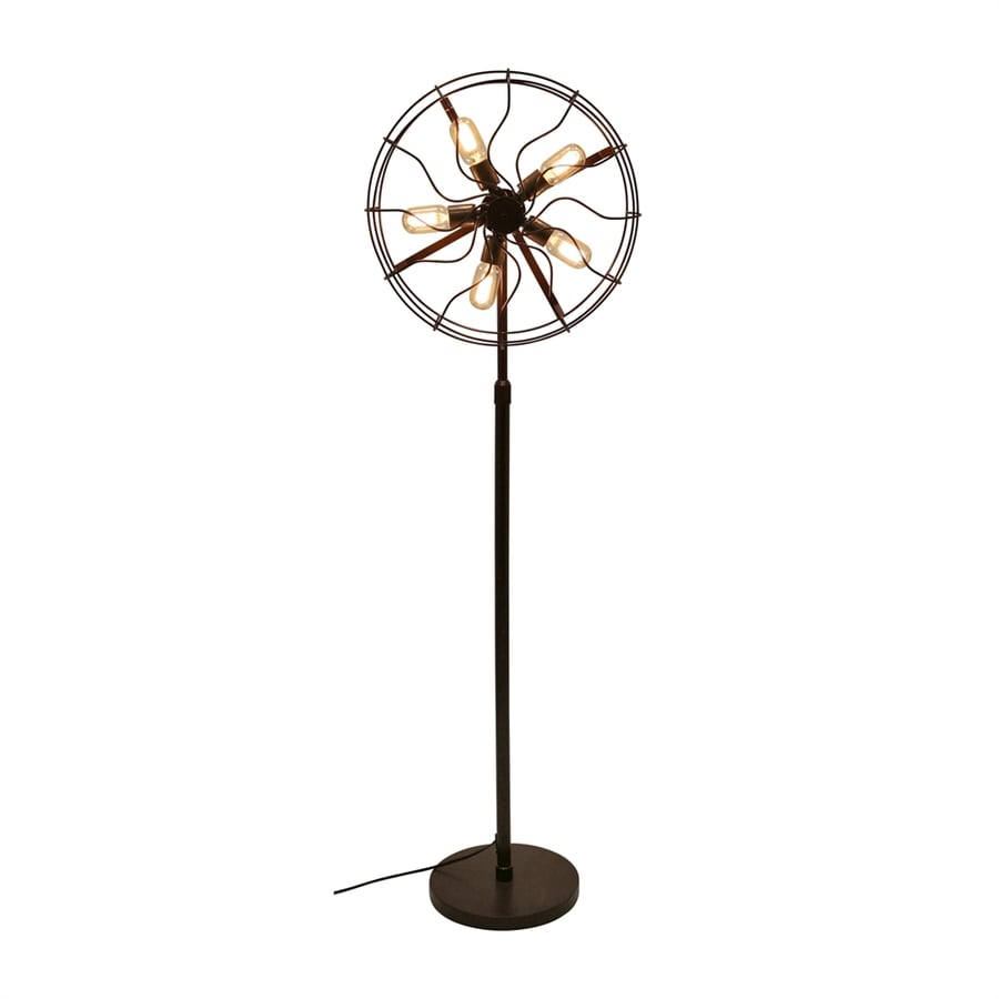 Lumisource Ozzy 62-in Antique Foot Switch Stick Floor Lamp with Metal Shade