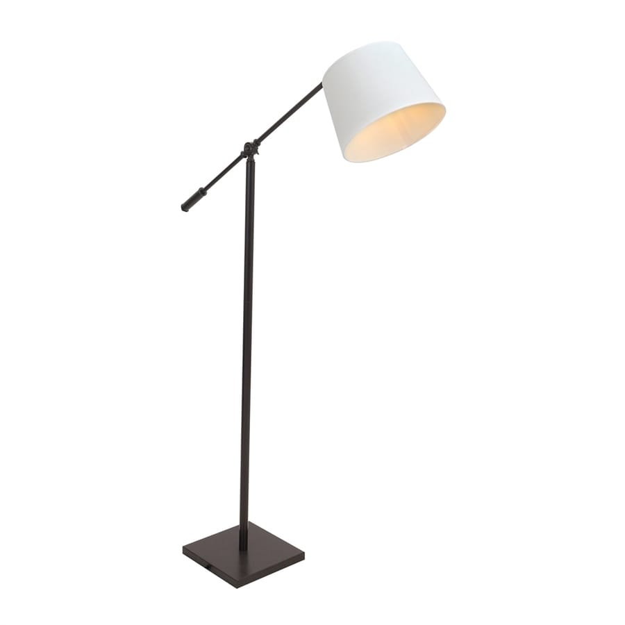 lumisource piper 58 in antique foot switch swing arm floor lamp with metal shade at. Black Bedroom Furniture Sets. Home Design Ideas