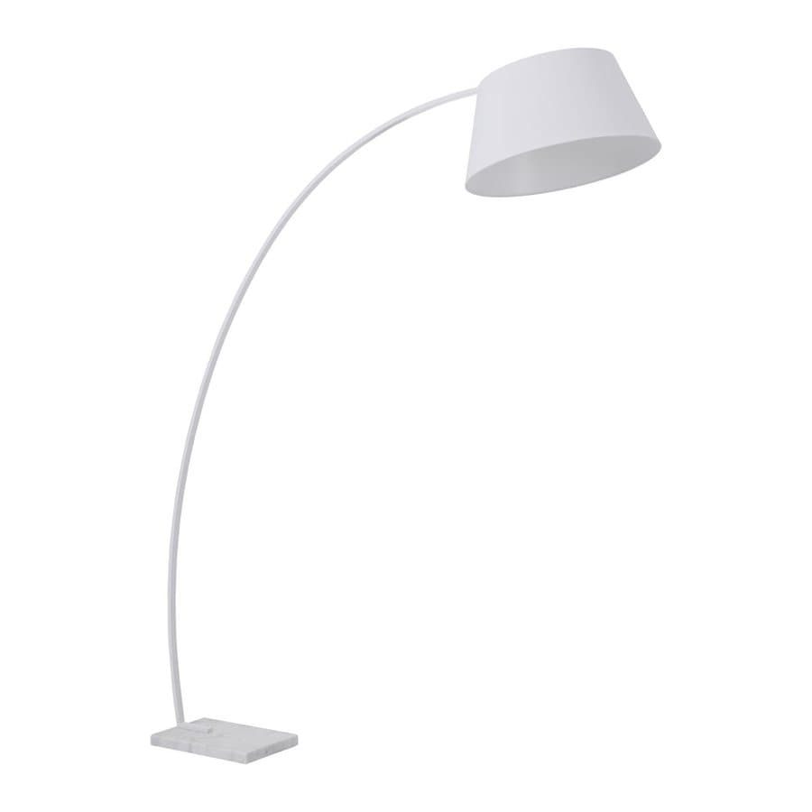Zuo Modern Vortex 74.8-in White Foot Switch  Arc Floor Lamp with Fabric Shade