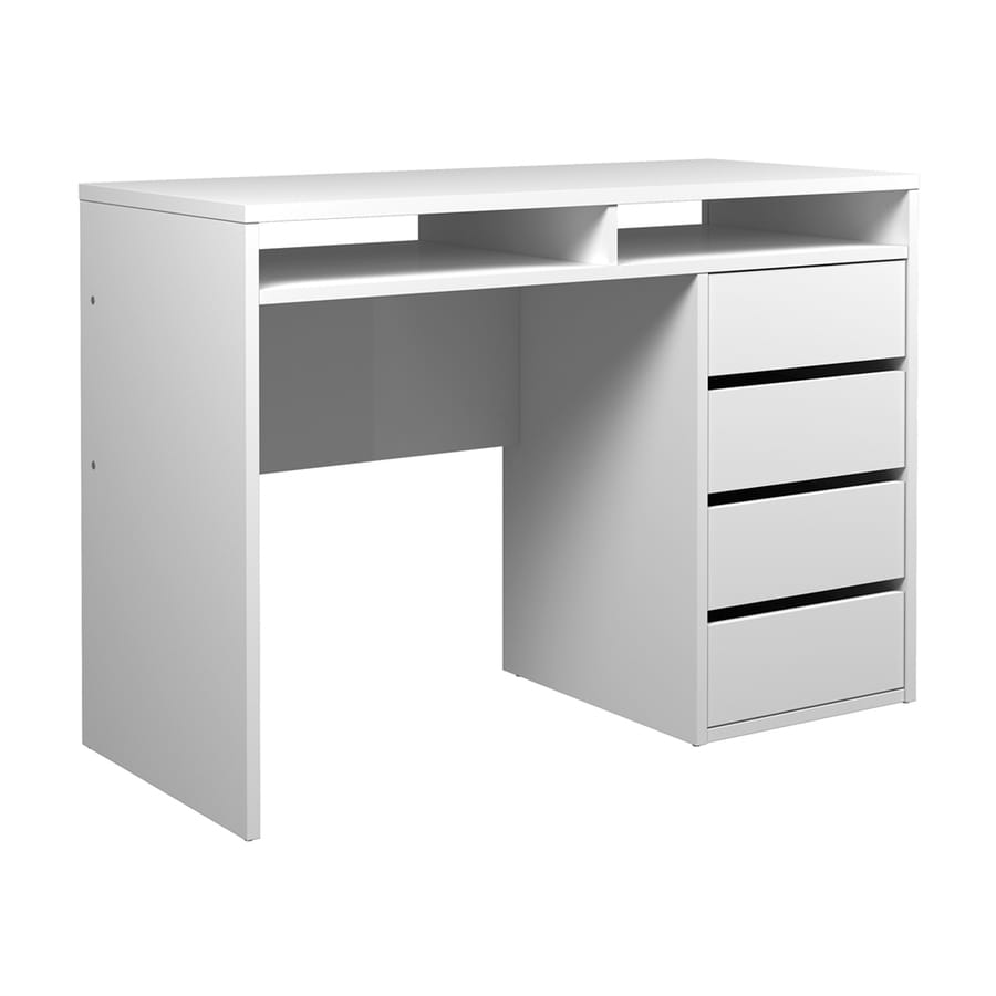 Tvilum Wyatt Contemporary High Gloss White Writing Desk