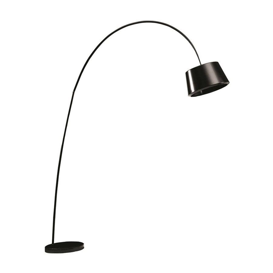 fine mod imports estal 70 in black arc floor lamp with metal shade at. Black Bedroom Furniture Sets. Home Design Ideas