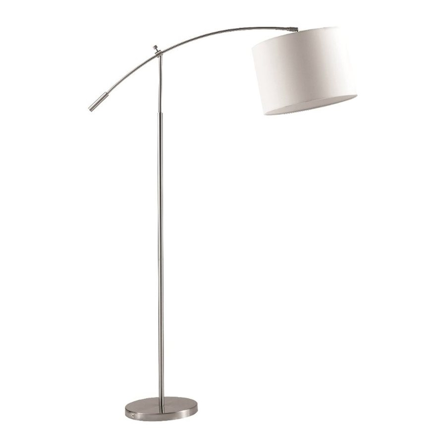 Shop fine mod imports 60 in steel arc floor lamp with metal shade at - Arc floor lamp shade ...