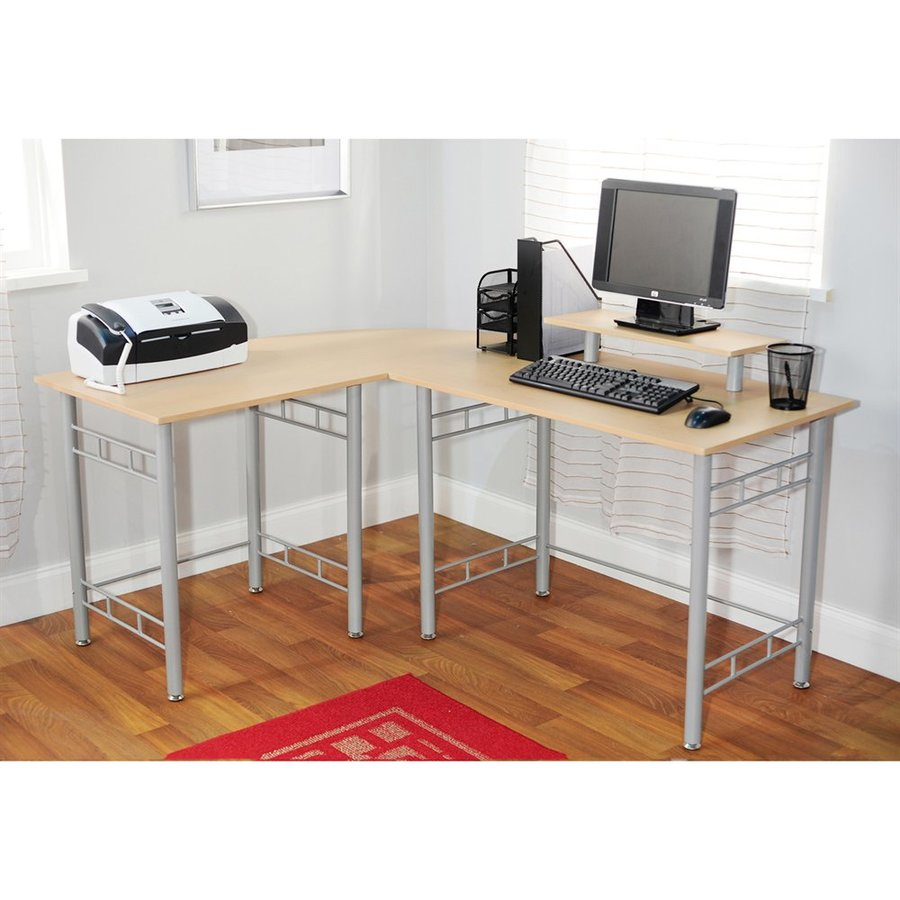 TMS Furniture Transitional Natural L-shaped Desk