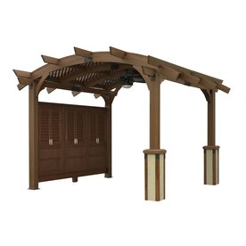 Outdoor Greatroom Company Sonoma 12 Ft Square Arched Wood Pergola Actual