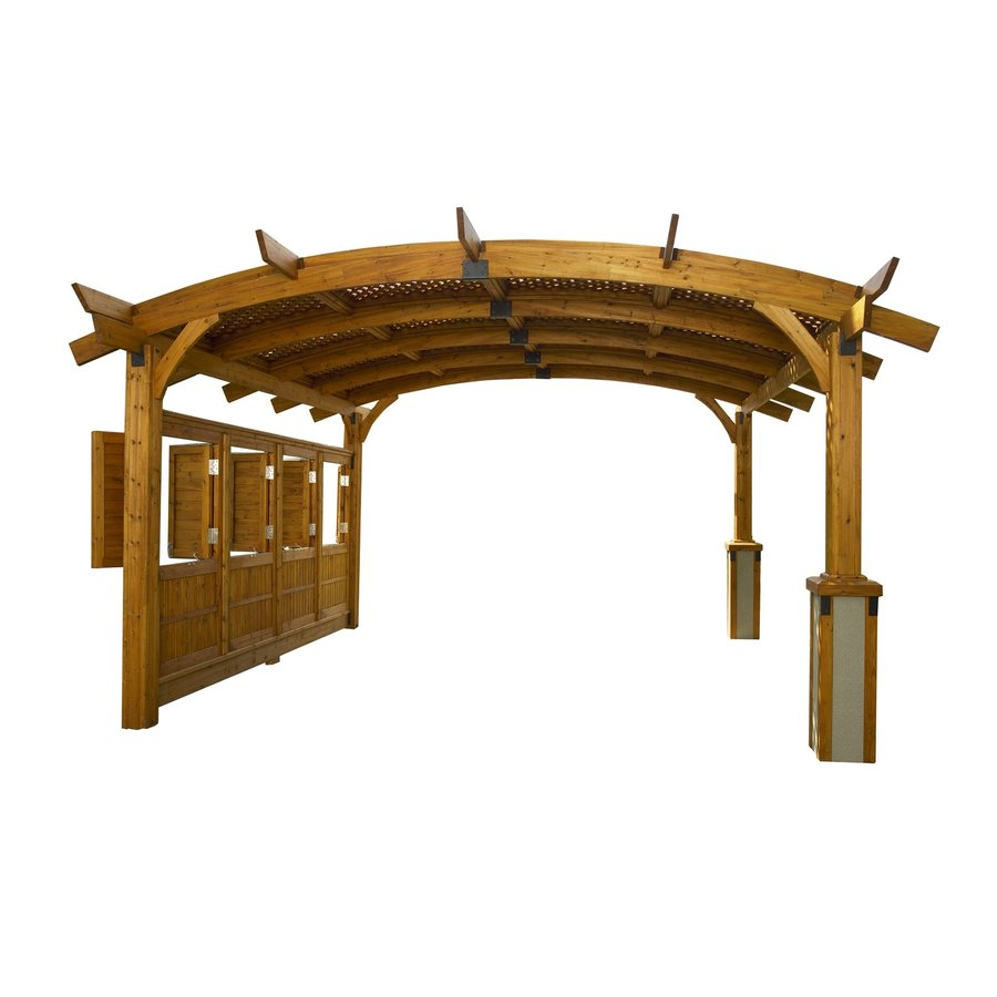 Outdoor Greatroom Company Sonoma 16-ft Square Arched Wood Pergola Actual: 15-ft 5-in x 15-ft 5-in