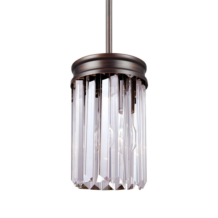 Sea Gull Lighting Carondelet 5.125-in Burnt Sienna Single Crystal Pendant