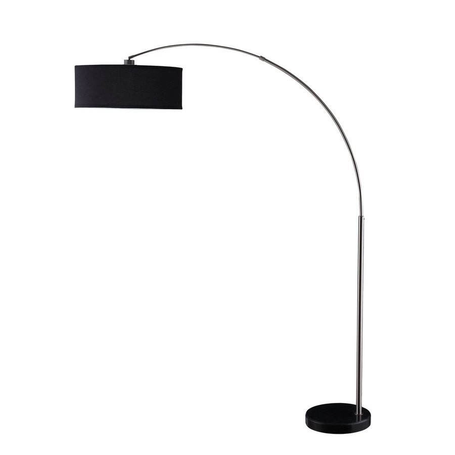 Coaster Fine Furniture 84-in Black/Chrome Arc Floor Lamp with Shade