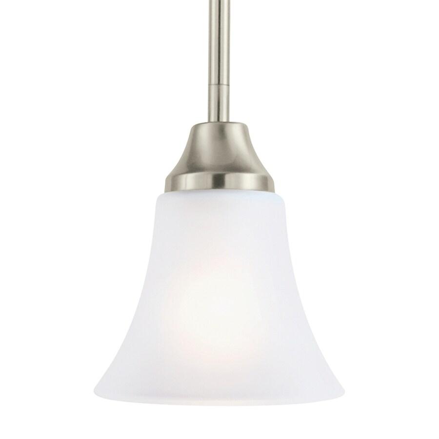 Sea Gull Lighting Holman 5-in Brushed Nickel Single Bell Pendant
