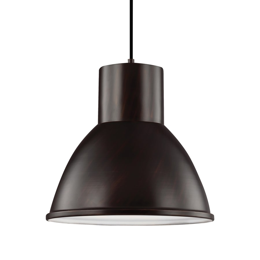 Sea Gull Lighting Division Street 15.25-in Burnt Sienna Industrial Single Dome Pendant