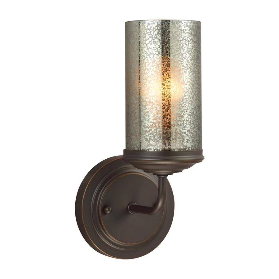 Sea Gull Lighting Sfera 1-Light 11-in H Autumn Bronze Cylinder Vanity Light
