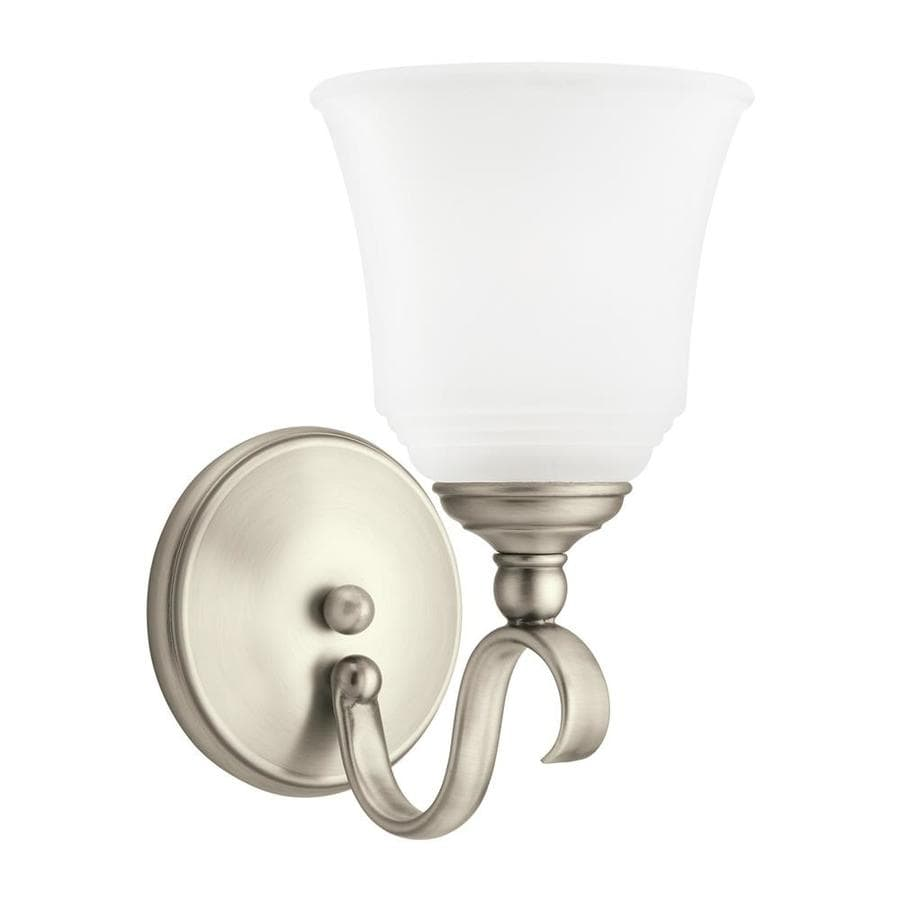 Sea Gull Lighting 1-Light 10.5-in Antique brushed nickel Bell Vanity Light ENERGY STAR