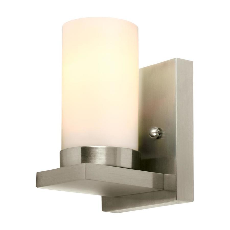 Sea Gull Lighting Ellington 1-Light 8-in Brushed nickel Cylinder Vanity Light ENERGY STAR