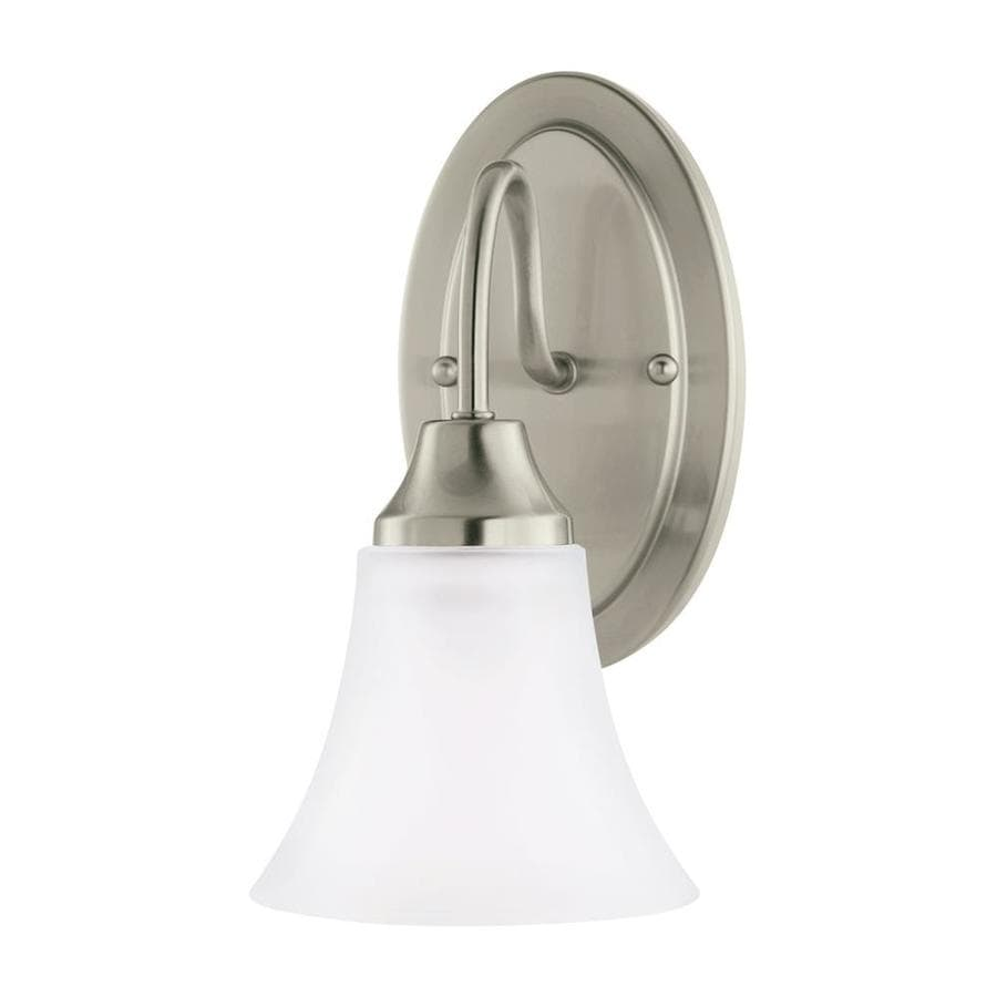 Sea Gull Lighting Holman 1-Light 11-in Brushed nickel Bell Vanity Light ENERGY STAR