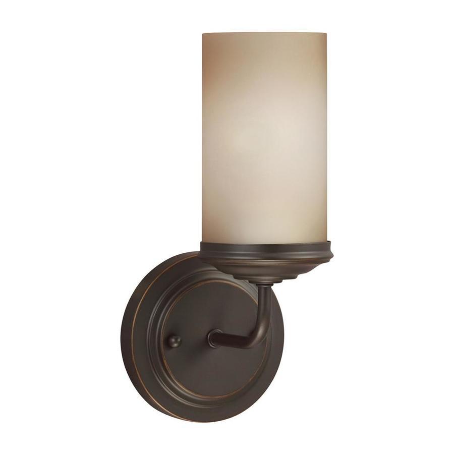 Sea Gull Lighting Sfera 1-Light 11-in Autumn bronze Cylinder Vanity Light ENERGY STAR