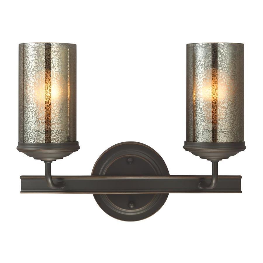 Sea Gull Lighting Sfera 2-Light 11-in Autumn bronze Cylinder Vanity Light ENERGY STAR
