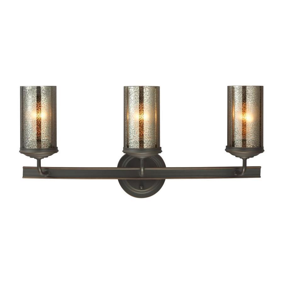 Sea Gull Lighting Sfera 3-Light 11-in Autumn bronze Cylinder Vanity Light ENERGY STAR