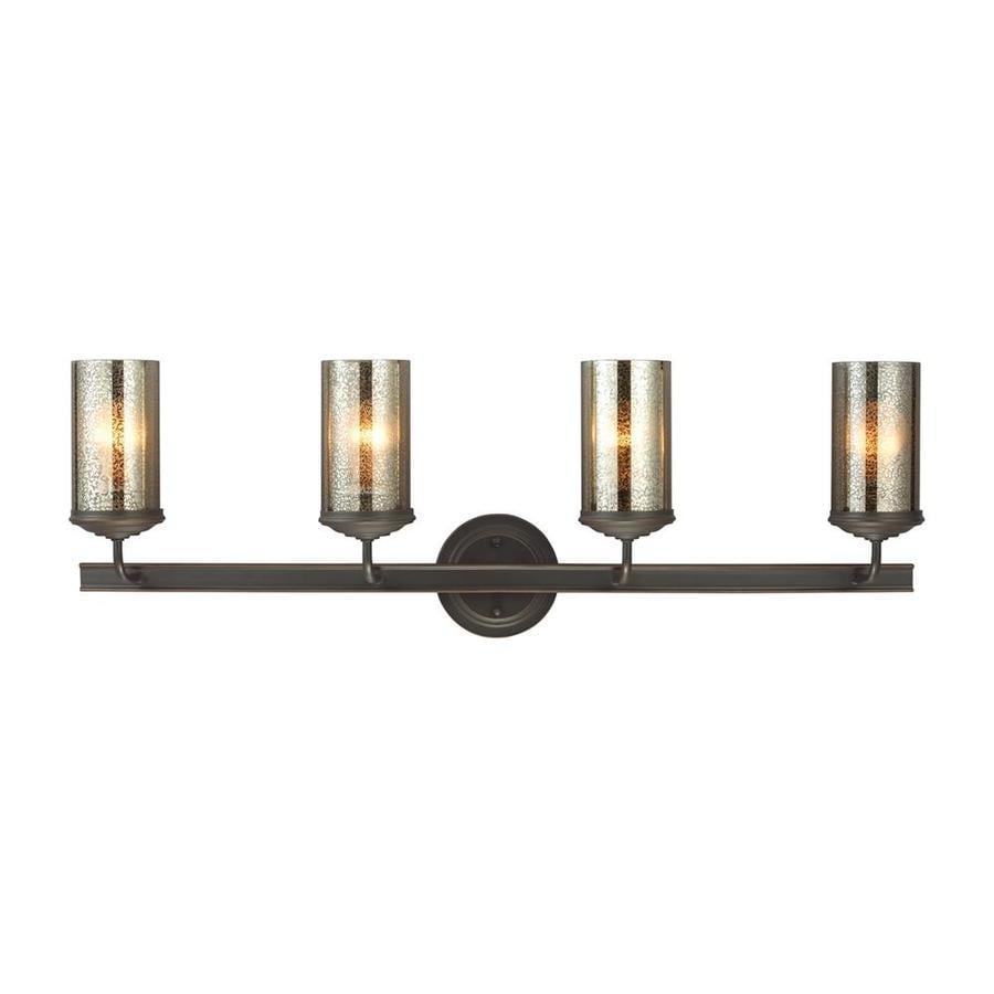 Sea Gull Lighting Sfera 4-Light 11-in Autumn bronze Cylinder Vanity Light ENERGY STAR