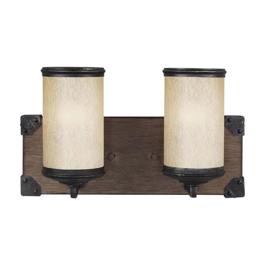 Sea Gull Lighting Dunning 2-Light 8.25-in Stardust Cylinder Vanity Light ENERGY STAR