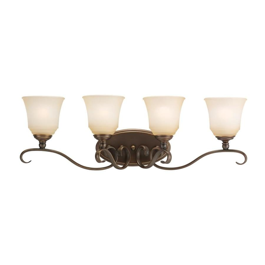 Sea Gull Lighting 4-Light 10.5-in Russet bronze Bell Vanity Light ENERGY STAR