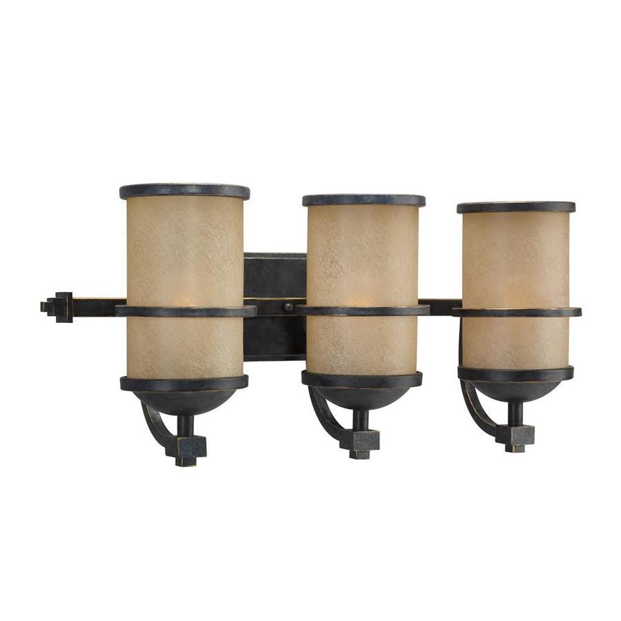 Sea Gull Lighting Roslyn 3-Light 10.5-in Flemish bronze Cylinder Vanity Light ENERGY STAR