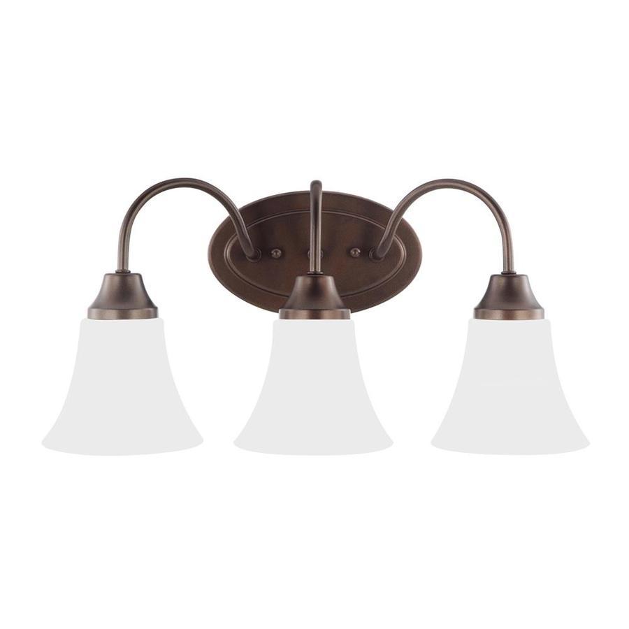 Sea Gull Lighting Holman 3-Light 9.75-in Bell metal bronze Bell Vanity Light ENERGY STAR