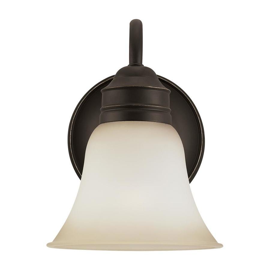 Sea Gull Lighting 1-Light 9-in Heirloom bronze Bell Vanity Light ENERGY STAR