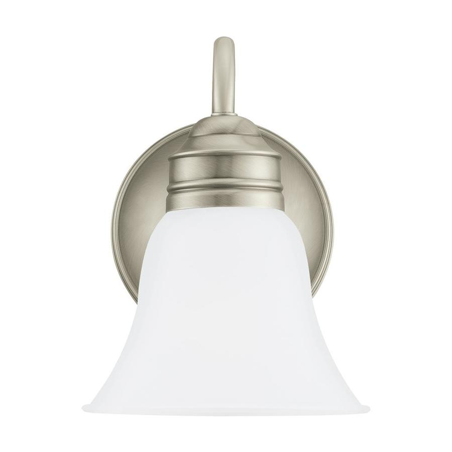 Sea Gull Lighting 1-Light 9-in Antique brushed nickel Bell Vanity Light ENERGY STAR