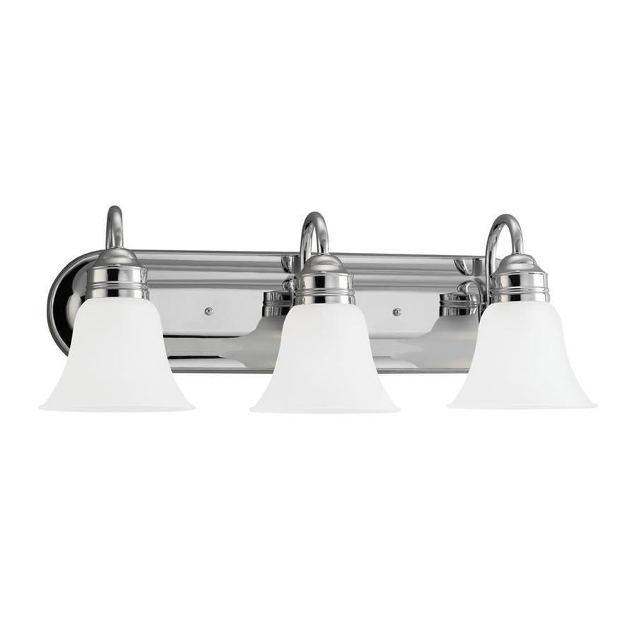 Sea Gull Lighting 3-Light 9-in Chrome Bell Vanity Light ENERGY STAR
