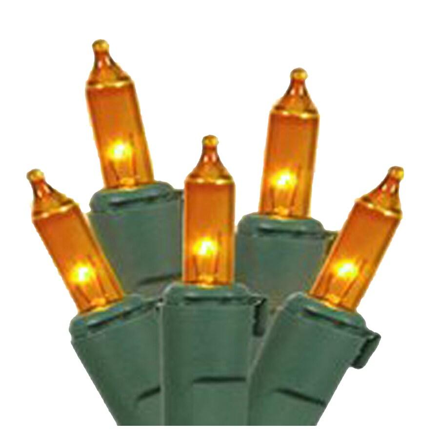 Northlight 4-Ft x 6-Ft Indoor/Outdoor Constant Orange Incandescent Mini Christmas Net Lights