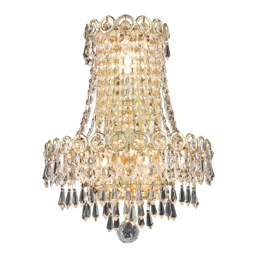 Elegant Lighting Century 3 Light Gold Crystal Wall Sconce