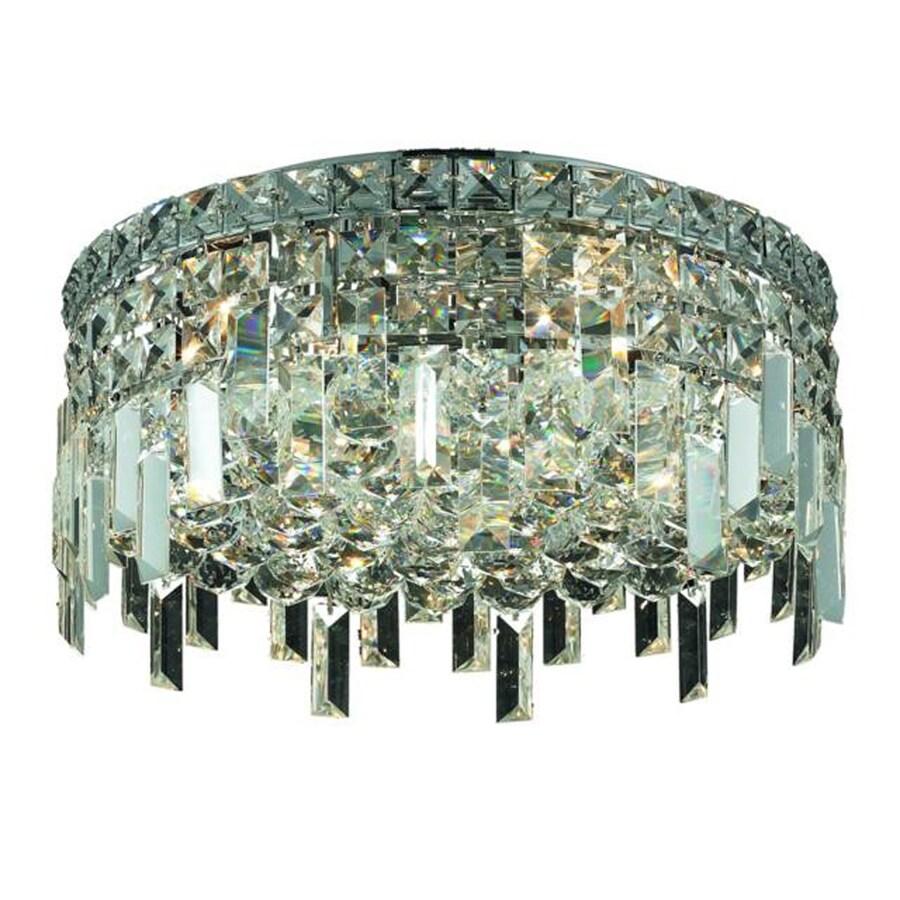 Elegant Lighting Maxim Crystal Flush Mount Ceiling Light
