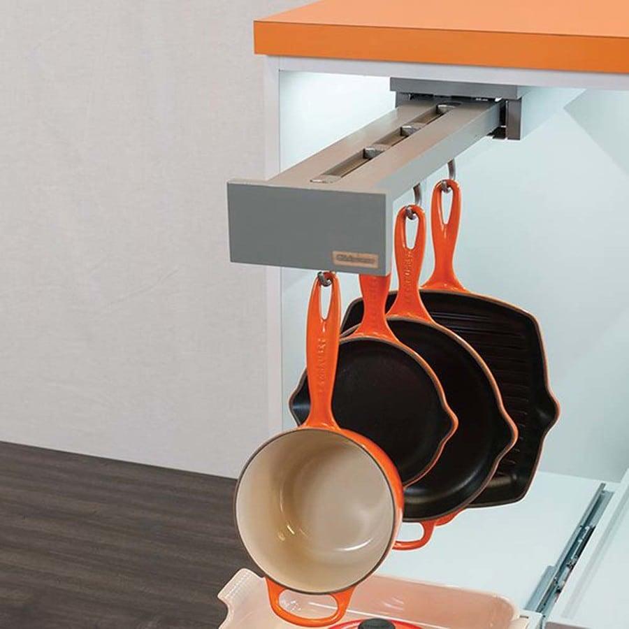 Glideware 6-in W x 3-in H Wood Single Tier Pull Out Cabinet Door Storage Organizer