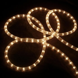 Shop christmas rope lights at lowes northlight 216 count 18 ft constant with white incandescent plug in christmas rope mozeypictures Image collections