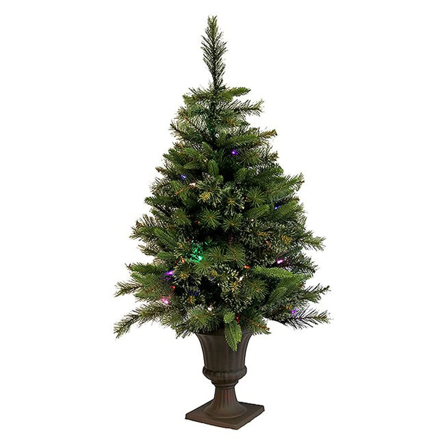 50 Foot Christmas Tree: Northlight 3.5-ft Pre-lit Mixed Needle Slim Artificial