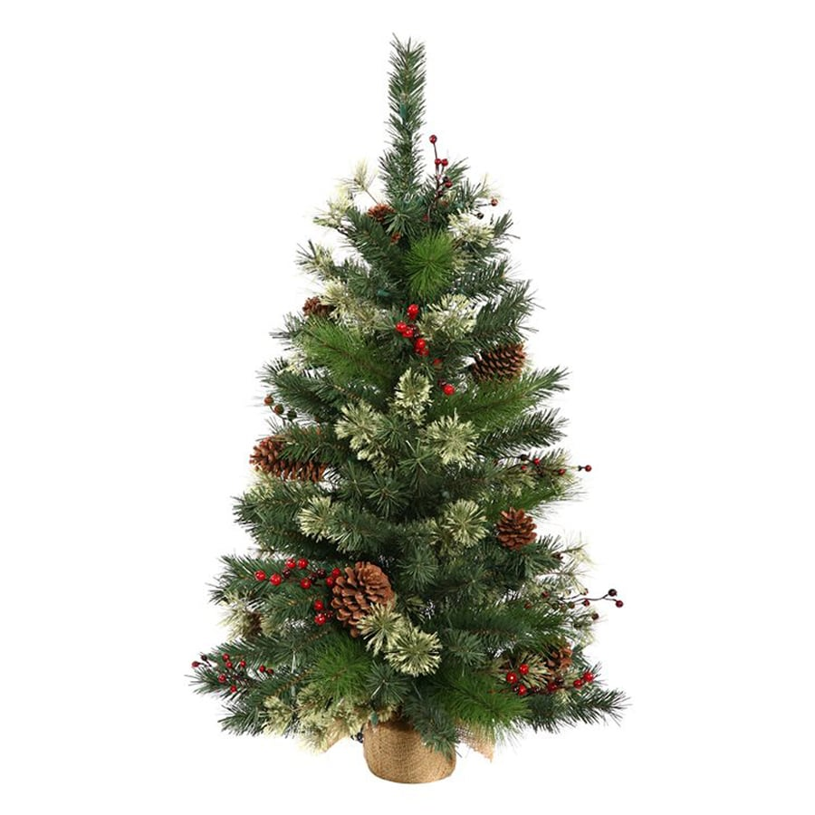 Shop Northlight 3.5-ft Berrywood Pine Artificial Christmas Tree with ...