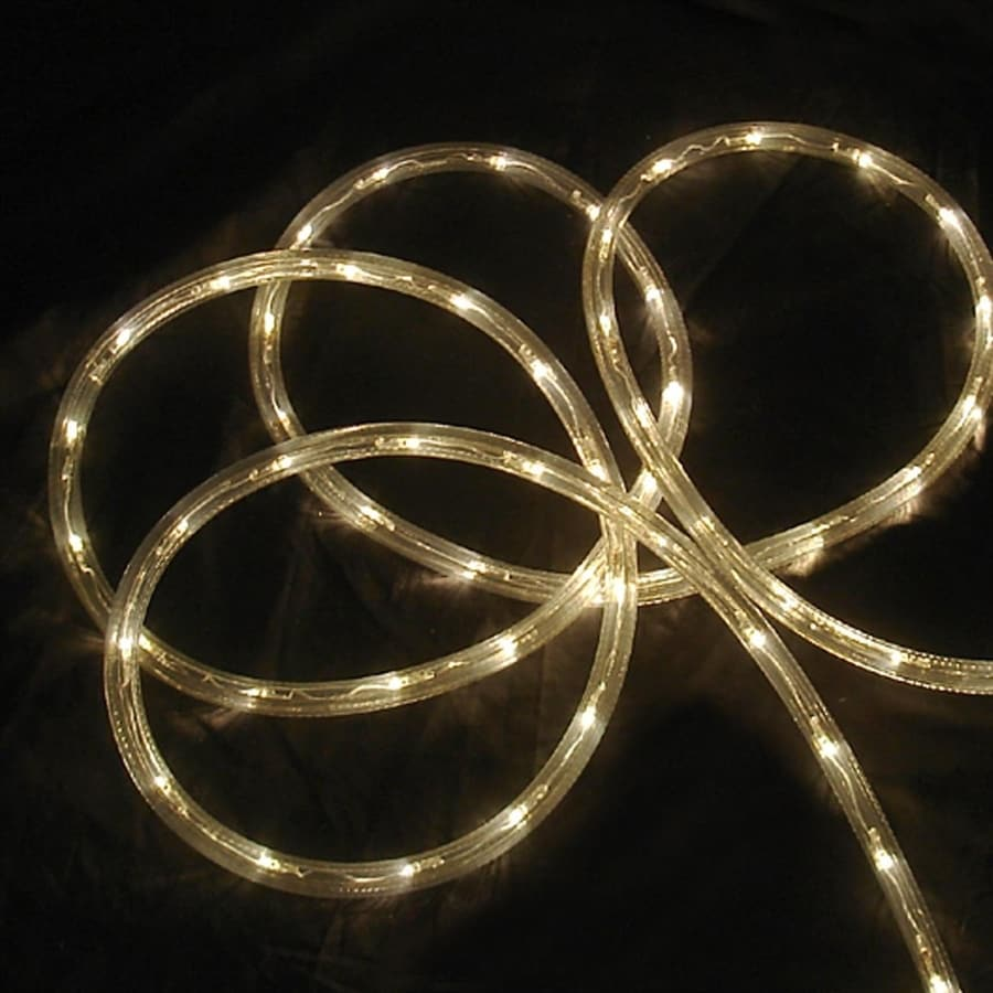 Northlight 18-ft Constant White Christmas Rope Lights in Clear Tubing