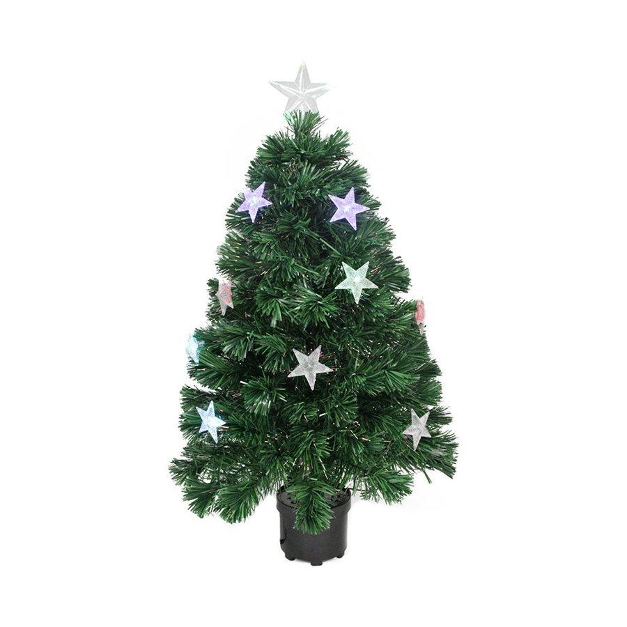 Shop Northlight 4-ft Pre-lit Artificial Christmas Tree with 24 Color ...