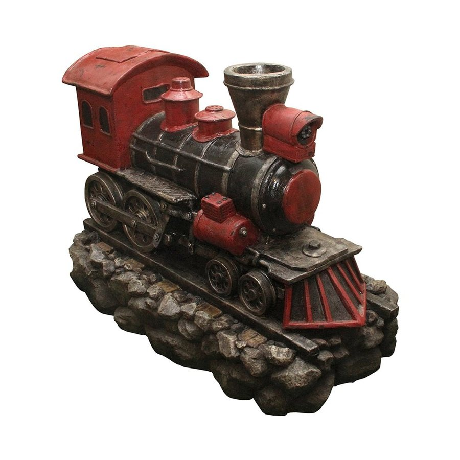 Northlight 27-in Resin Locomotive Train Water Fountain Statue