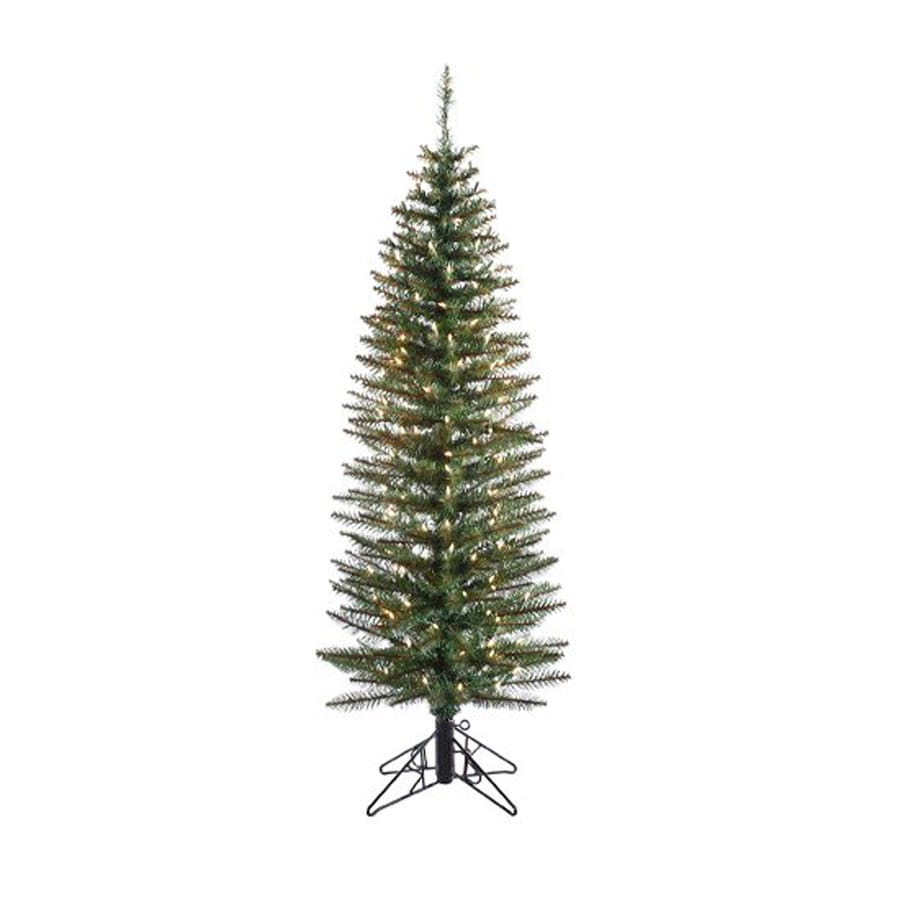 Northlight 5-ft 276-Count Pre-Lit Pencil Pine Slim Artificial Christmas Tree with 200 Clear White Lights