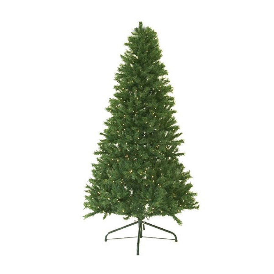 Shop Northlight 7-ft Pre-lit Canadian Pine Artificial Christmas ...