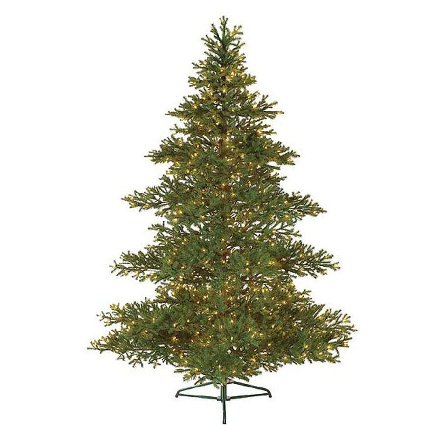 Northlight 7-ft 6-in Pre-lit Balsam Fir Artificial Christmas Tree with 650 Clear White Incandescent Lights