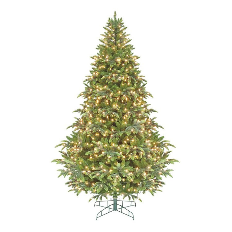 Northlight 7-ft 6-in Pre-lit Artificial Christmas Tree with 600 Clear White Incandescent Lights