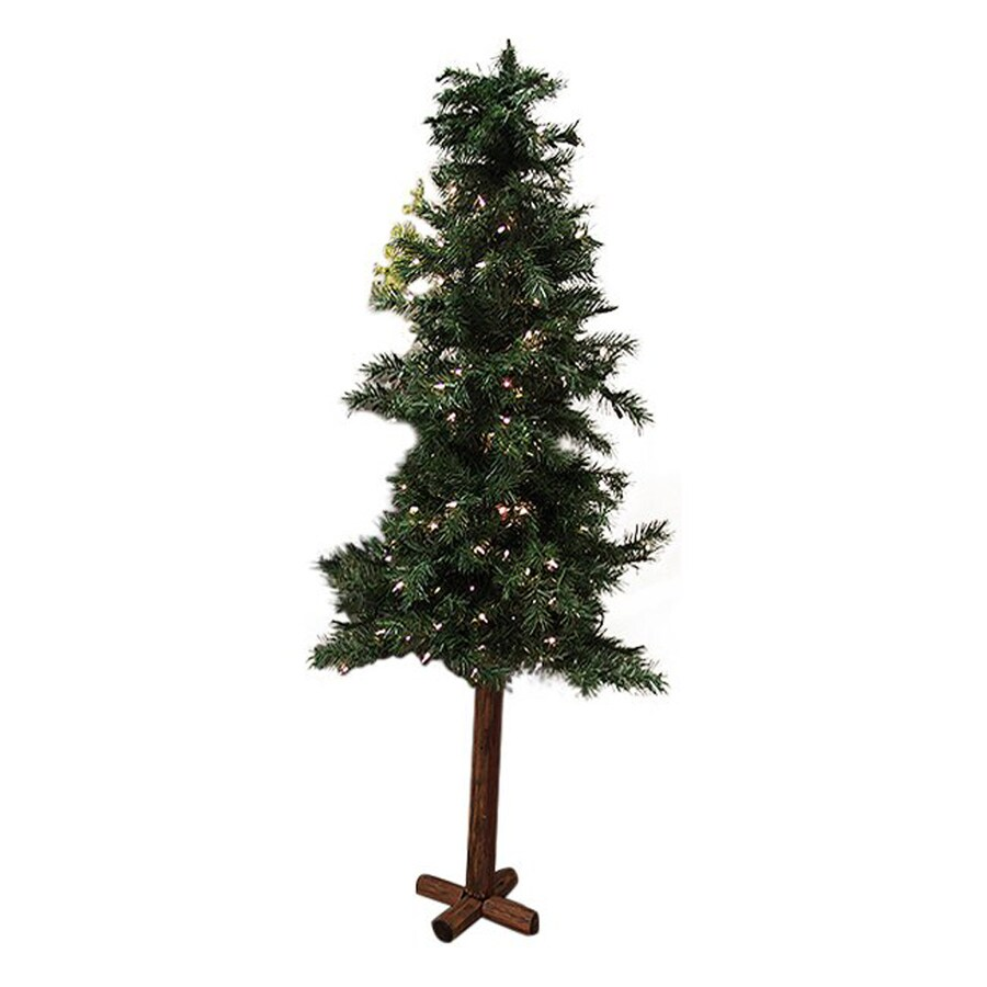 Northlight 7-ft Pre-lit Alpine Slim Artificial Christmas Tree with 300 Clear White Incandescent Lights