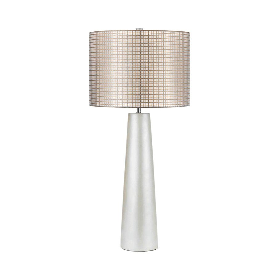 AF Lighting Lola 35-in Pearl 3-way Switch Table Lamp with Fabric Shade