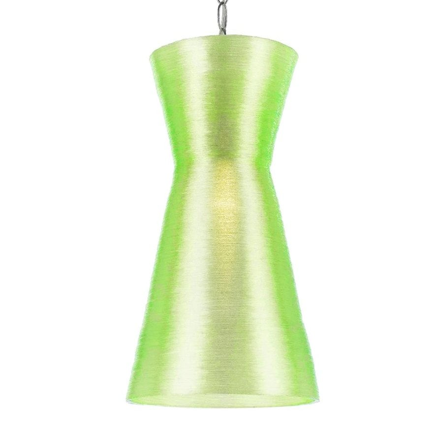 AF Lighting Aimee 8.5-in Chrome Electrical Outlet/Hardwired Mini Cone Pendant