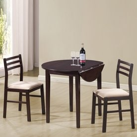 Coaster Fine Furniture Dinette Cappuccino Dining Set With Round Dining  (29 In To 31