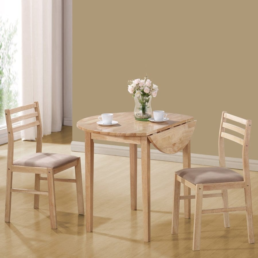 Coaster Fine Furniture Dinette Natural Dining Set with Round Dining (29-in to 31-In) Table