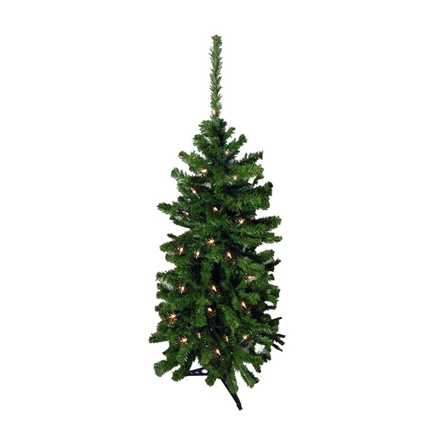 Northlight 4-ft 6-in Pre-lit Slim Artificial Christmas Tree with 150 Clear White Incandescent Lights