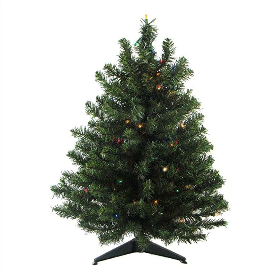 Real Christmas Trees Lowes: Northlight 3-ft Pre-lit Mixed Needle Artificial Christmas
