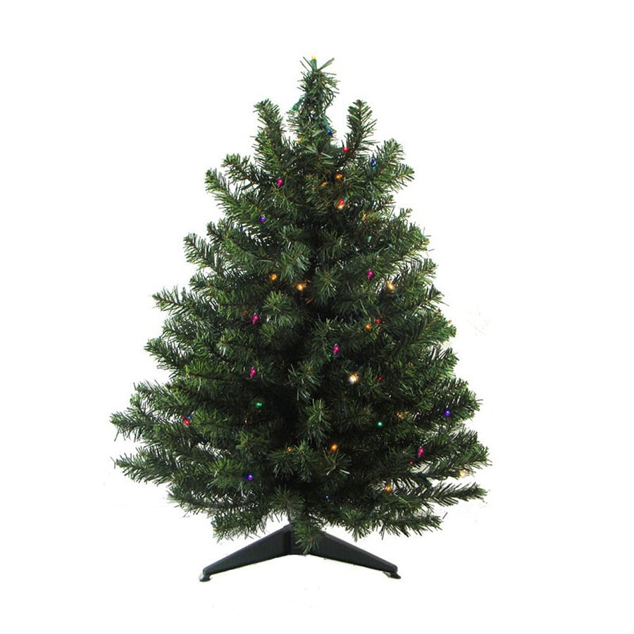 Northlight 3-ft Pre-lit Artificial Christmas Tree with 100 Constant ...